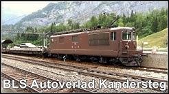 Bahnhof Kandersteg - BLS Autoverlad, vom Kanton Bern direkt ins Wallis