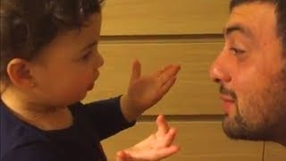 Baby argues with Daddy so angry OVER nothing 😅 Funny Father and Baby Compilation