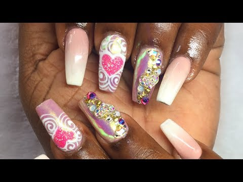 How To Gel Polish Baby Boomer | French Fade |💖 Valentines Day Inspired | Nail Art Design | Tutorial