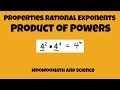 Product of Powers - Properties of Rational Exponents