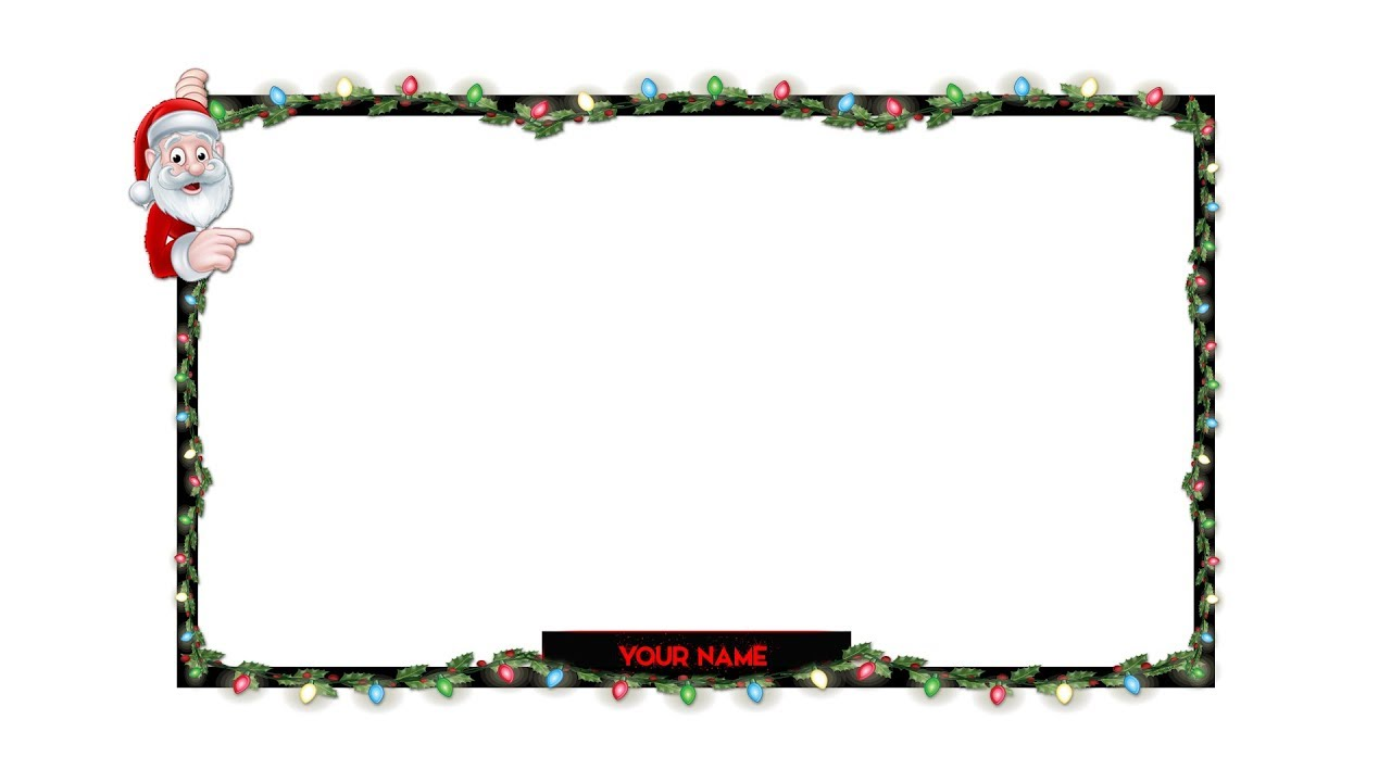 Christmas Facecam/Webcam Streaming Template Free Download -VisualGraphics - YouTube