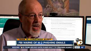 FBI warns of W2 phishing emails