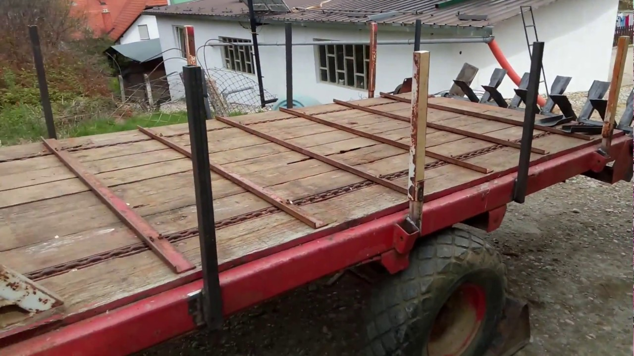 trailer for hay to manure spreader