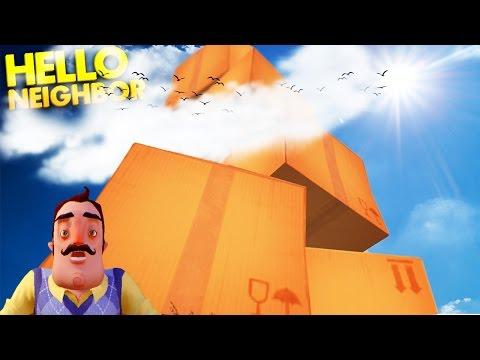 BUILDING A GIANT TOWER IN THE NEIGHBOR'S BACKYARD!   Hello Neighbor Alpha Gameplay