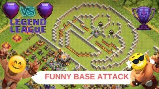 Legend League | Funny Base Attack | clash of clans