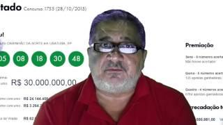Mega Sena 1755 resultado de hoje, ontem quarta feira 28/10/2015