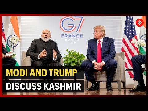 Modi and Trump discuss Kashmir, Trade at #G7Summit