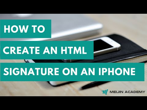How To Create HTML Signature On IPhone And IPad