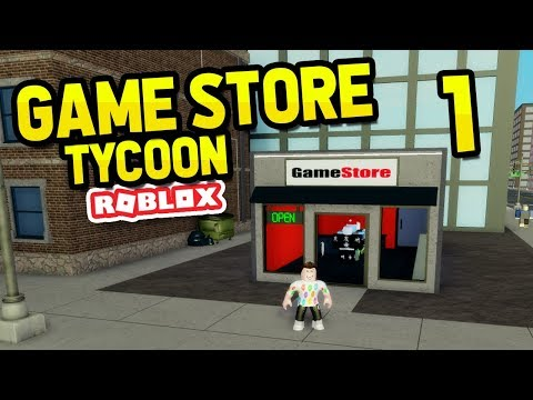BUILDING MY OWN GAME STORE - ROBLOX GAME STORE TYCOON #1