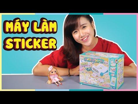 Đồ chơi máy làm sticker Nhật Bản | Japanese Sticker machine | Vannie in Wonderland | Toy Palace