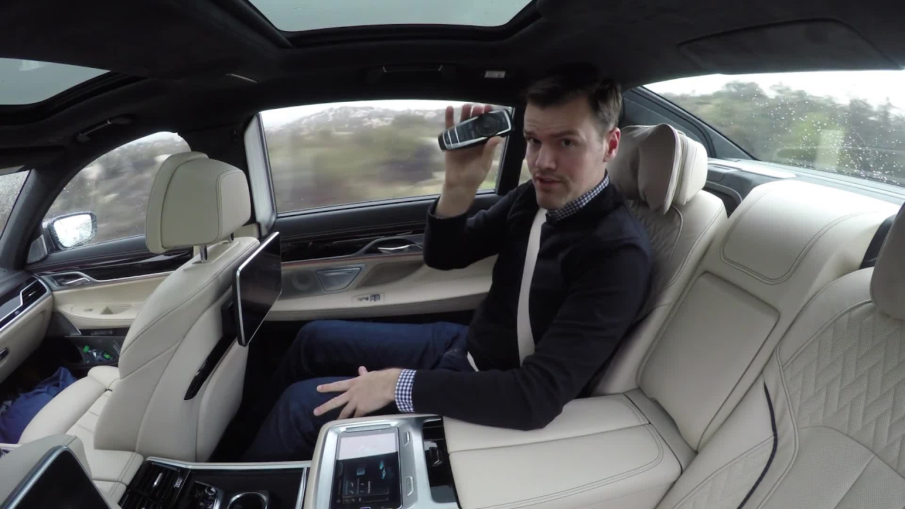 2017 BMW M760i Back Seat Review | Autoblog Short Cut - YouTube