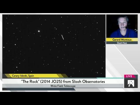 Transmiten en vivo el acercamiento a la Tierra de un gigantesco asteroide
