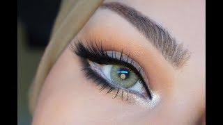 simple enlarging eye makeup ميك اب بسيط  لتكبير العيون