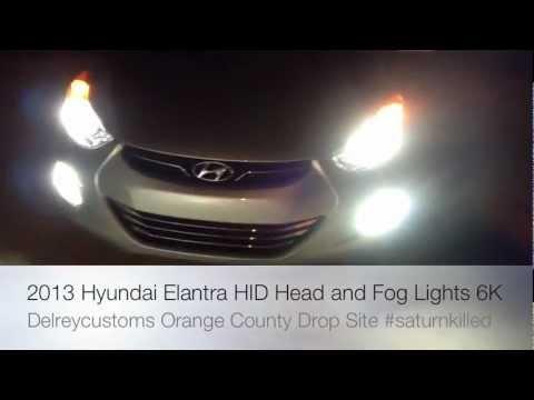 2012 Hyundai Elantra Hid 6000k Upgrade Kit Head Light
