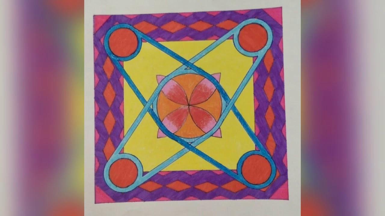 Kumpulan Gambar Ragam Hias Geometris Seni Youtube