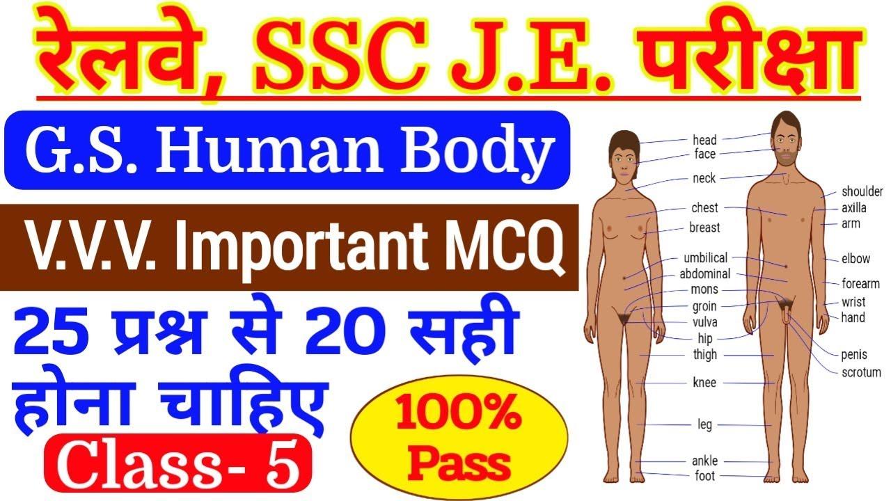 Railway Je Junior Engineer General Science Class 3 Human Body