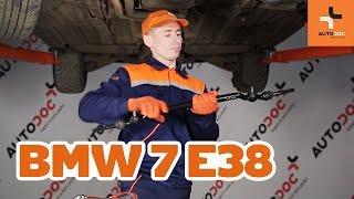 Kaip pakeisti galiniai stabdžių diskai ir stabdžių kaladėlės BMW 7 E38 PAMOKA | AUTODOC