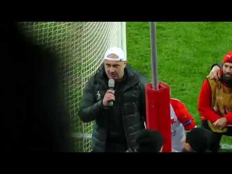 Slavia - Sevilla FC 4:3p - závěr a Jindrova děkovačka