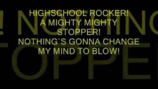 bunkface_highschool rocker (lyrics on screen)