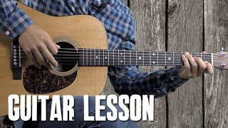 Country & Bluegrass Crosspicking Guitar Lesson - Red River Valley