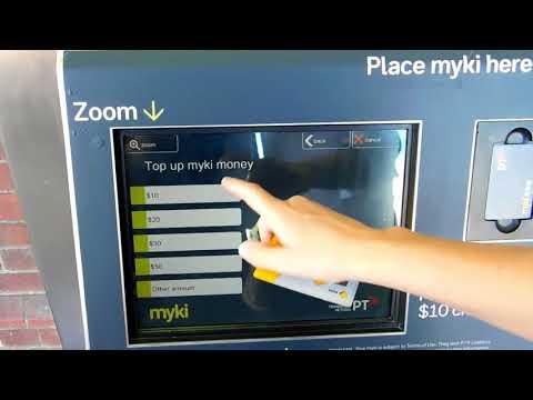 Wie lädt man eine Myki auf? Myki Aufladen - MTiG (Tourist Information Video)