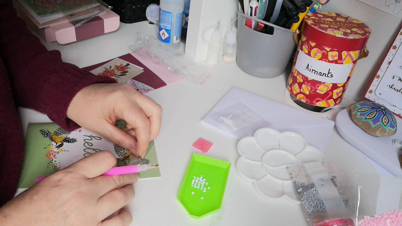 Ouverture Et Test Des Kit Diamond Painting Cards De Chez Action Youtube
