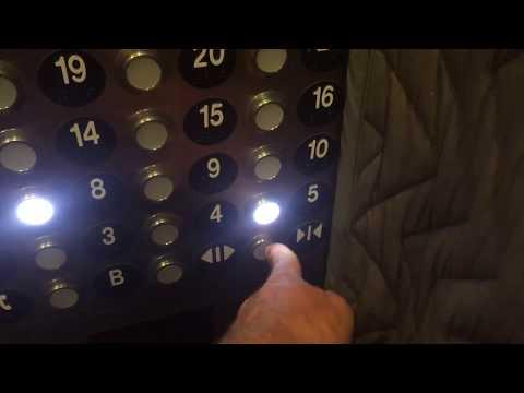 INSANE FAST Schindler 7000 Traction Service Elevator @ Ten Thousand Condos, Beverly Hills, CA