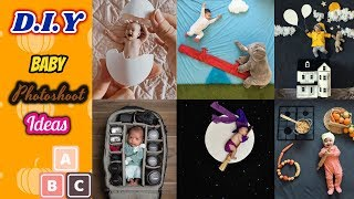 Latest baby photoshoot idea at HOME / Easy DIY ideas for baby photoshoot / Baby photography at home