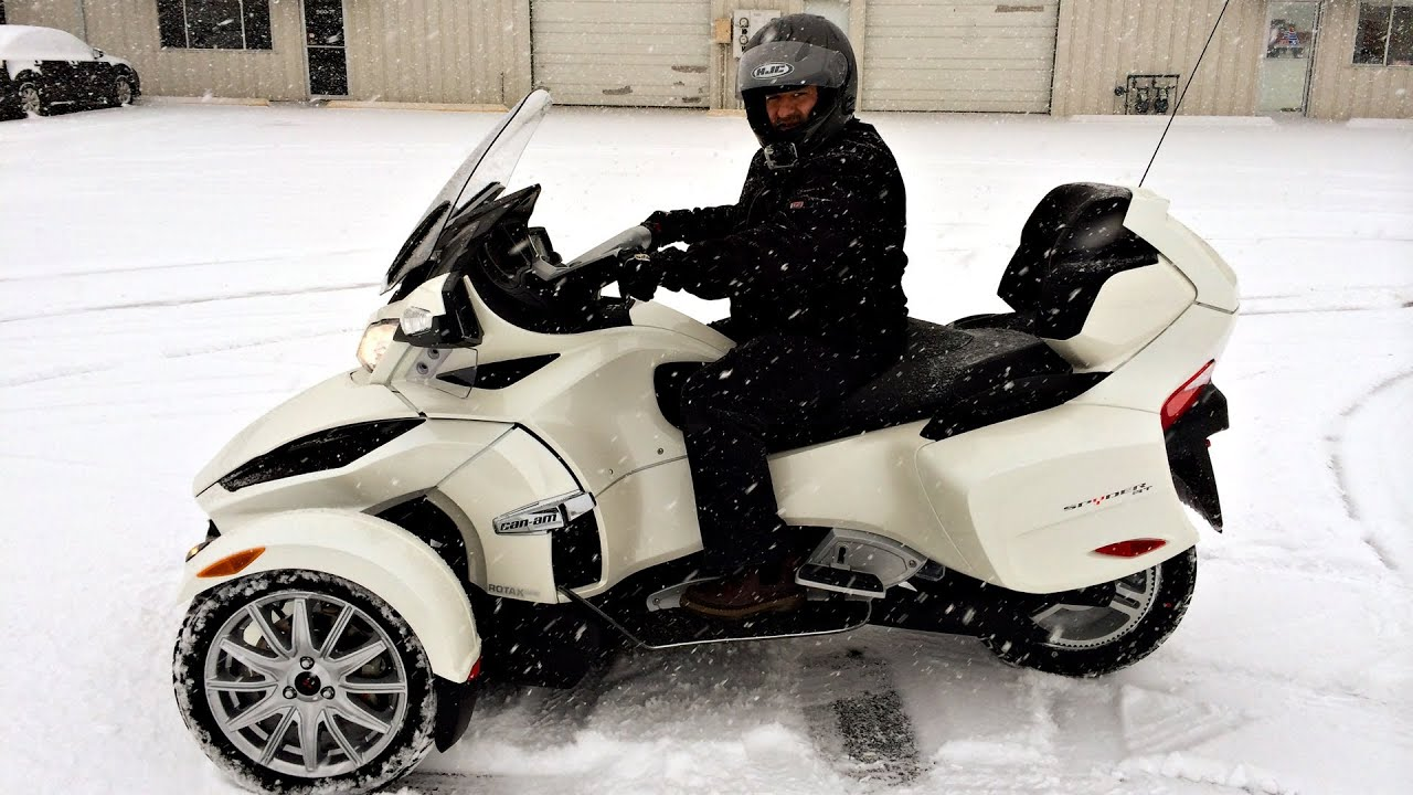 can am spyder in the snow watch this youtube. Black Bedroom Furniture Sets. Home Design Ideas