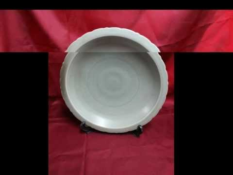#16 Antique Chinese Porcelain Song Dynasty Plate Celadon Glaze.avi