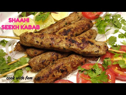 Shahi Seekh Kabab On Pan & Without Oven Or Tandoor But With Smoky Flavour - Bakrid Special Kababs
