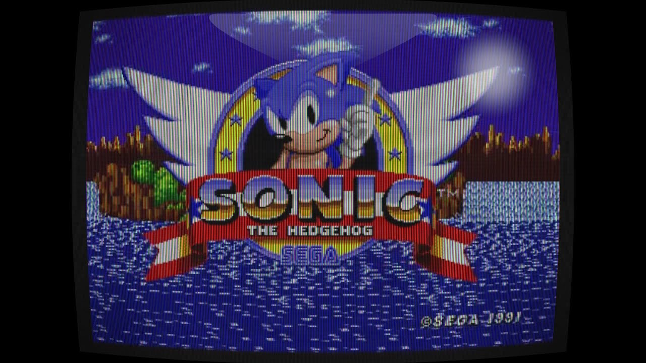 CRT display simulation with Premiere CC : subpixel, blurry pixels,  scanlines, spherical display