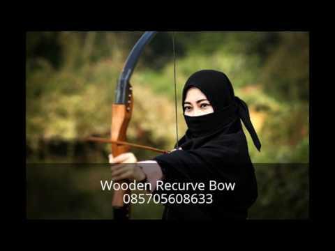 Wooden Recurve Bow  Busur Panah