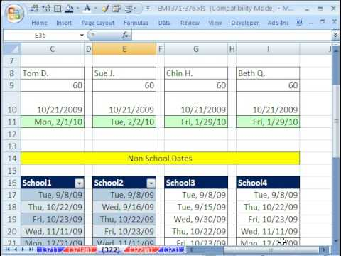 Excel Workday function: Find end date - exclude weekends & holidays from YouTube · Duration:  10 minutes 22 seconds