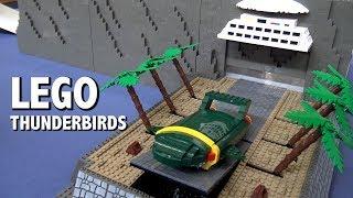 Motorized LEGO Thunderbirds Tracy Island   Brickvention 2019