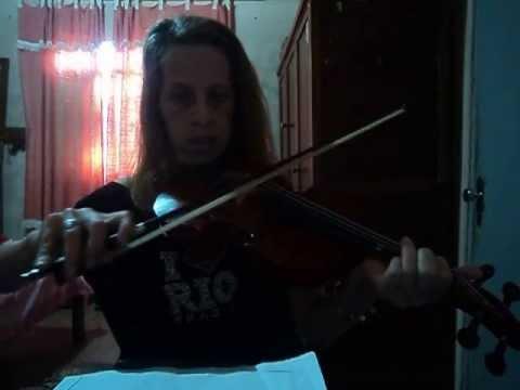 Lucia de Fátima Teixeira,tocando noite feliz no violino