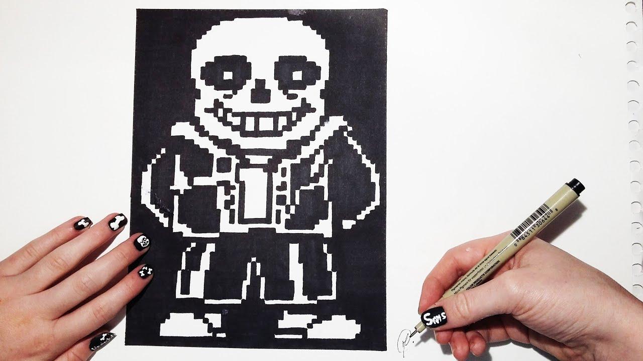 Undertale Sans Speed Drawing Pixel Art