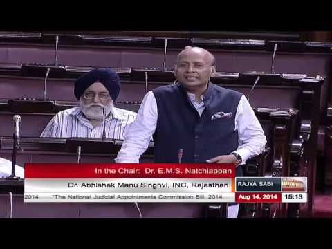 Remarks of Dr. Abhishek M Singhvi on The National Judicial Appointments Commission Bill, 2014