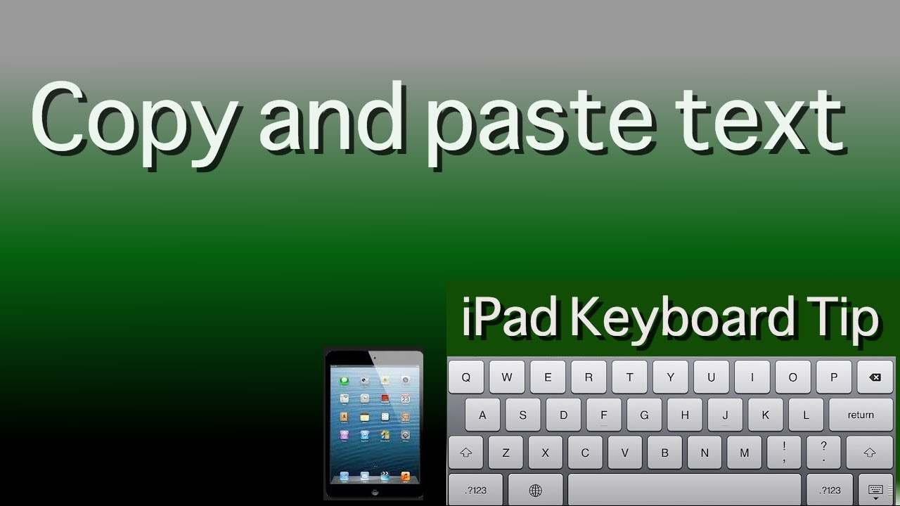 Ipad Keyboard Tip Copy And Paste Text Youtube