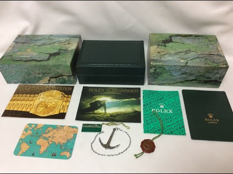 Rolex Submariner 16610 Watch Box Set +Anchor+Tags+Booklets+Card Holder+Cert Book For Sale Ask Info