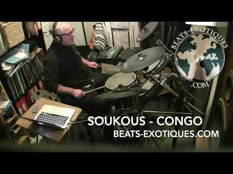 Soukous rhythm - Congo - Beats Exotiques. World fusion styles for drum kit.