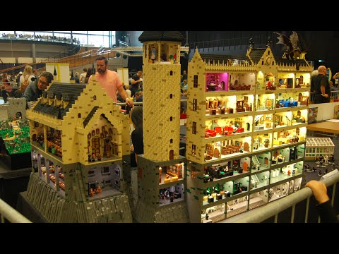 Huge Harry Potter Hogwarts Castle With Interiors From LEGO