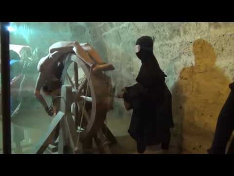 Камера пыток в тюрьме Киренийской крепости или Луизиньянские подземелья. Северный Кипр.