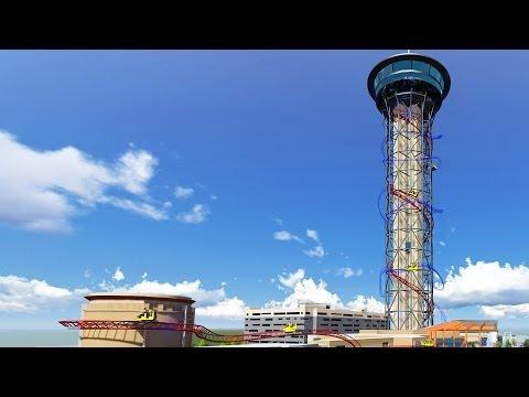 Skyscraper at SkyPlex Orlando World's Tallest Roller Coaster Announcement