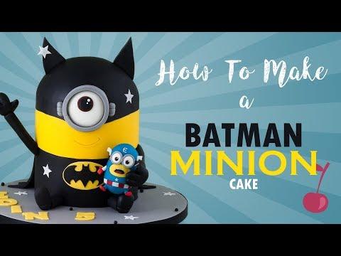 Batminion Cake Tutorial   How To   Batman Minion   Cherry School