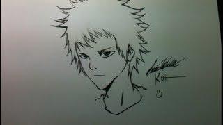 Tutorial Como desenhar mangá Rosto masculino(garoto jovem) How to Draw Manga Boy