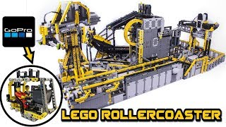 HUGE lego technic figure rollercoaster  --with GOPRO camera ...