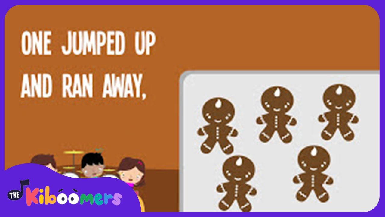 5 Gingerbread Men | Song Lyrics Video | Kids Christmas Songs | The ...