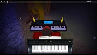 The World Revolving - Deltarune di: Toby Fox su un pianoforte ROBLOX.