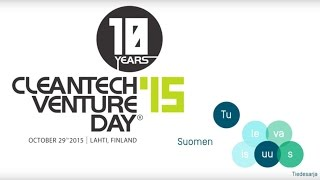 Cleantech Venture Day in collaboration with the Future of Finland: Circular Economy & Textiles